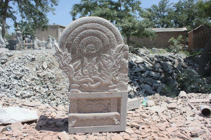 石雕门墩图片 青石