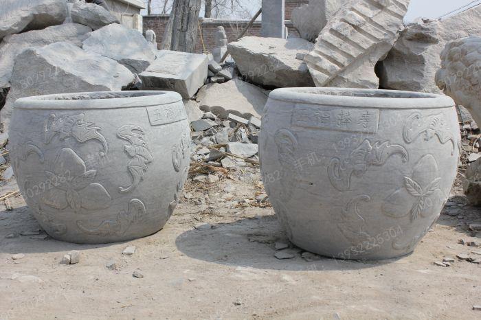 仿古鱼缸 汉白玉石雕鱼缸花盆 yg255 材质: 价格: 尺寸:     【曲阳