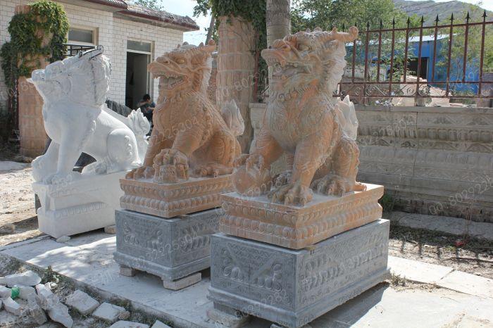 曲阳石雕 曲阳雕塑 动物石雕麒麟雕塑