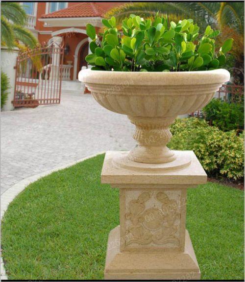 241 & Flower pot-Sculpture _ Stone carving _ Zifan Sculpture