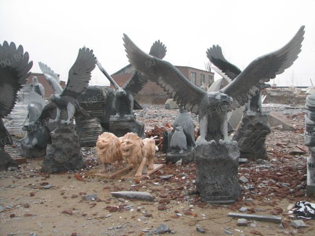 Animal Stone Carving Eagle, Stone Carving Eagle Sculpture, Stone ...
