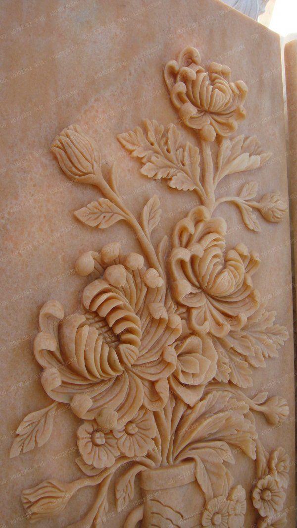 汉白玉石材 雕花浮雕